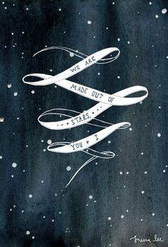 made out of stars. I absolutely love this. gorgeous graphic art.