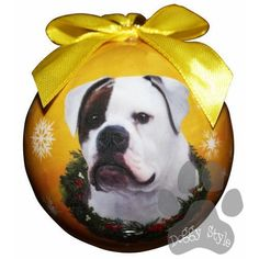 American Bulldog Shatterproof Dog Breed Christmas Ornament http://doggystylegifts.com/products/american-bulldog-shatterproof-dog-breed-christmas-ornament