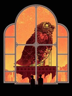kevin tong art | Illustration art girl painting door owl Kevin Tong Gryphon Large ...