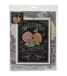 Design Works Welcome Chalkboard Counted Cross Stitch Kit