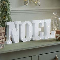Do they know it's #Christmas time at all? They will do with these light up letters, spelling out the #festive word Noel! #noel #lightupletters #letterlights #cosy #homedecor #interiordecor #christmaslights