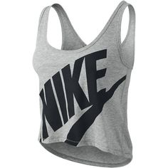 Nike Shorty Women's Tank Top - Dark Grey Heather, XL ($35) ❤ liked on Polyvore