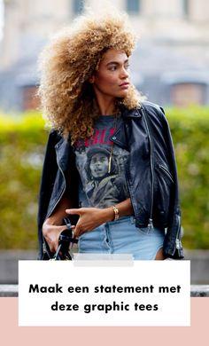 De graphic tee bekronen we tot het basisonderdeel van vrouwen met een casual maar uitgesproken kledingstijl.   Wil je weten hoe je het shirt anno 2020 het beste draagt? Lees dan snel verder.  Lente | Zomer | Fashion | Mode | Streetstyle Trends | Trends | 2020 | Fashion Week | Look | Outfit | Statement | Graphic Tees | Graphic Tee | Casual | Combineren | Dragen | Stylen | Stijlen | Tips | Shoppen | Online Shoppen | Inspiratie | Meer Op Fashionchic