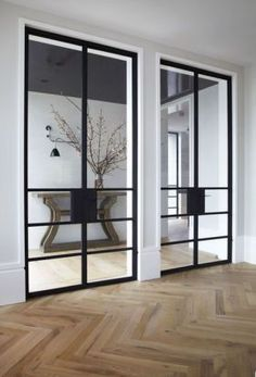 While a glass door competes tightly in a home décor realm, here's how to choose the right glass door design that'll fit your house. Australian Interior Design, Interior Design Awards, Interior Architecture, Interior And Exterior, Interior Glass Doors, Sliding Glass Doors, Steel Doors, Internal Doors, Windows And Doors