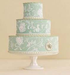 Tiffany blue Wedding Cake @Brook Hamrick Hamrick Cunningham this is beautiful