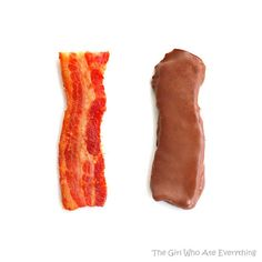 """on anything lol Chocolate Covered Bacon.""""Man Candy"""" hmmmmm not too sure about this one. I LOVE both Bacon & Chocolate, I'm down to try anything! Chocolate Covered Bacon, Bacon Chocolate, Melt Chocolate, Chocolate Chips, Bacon Dip, Bacon Food, Apple Crisp Recipes, Easy Family Meals, Family Recipes"""