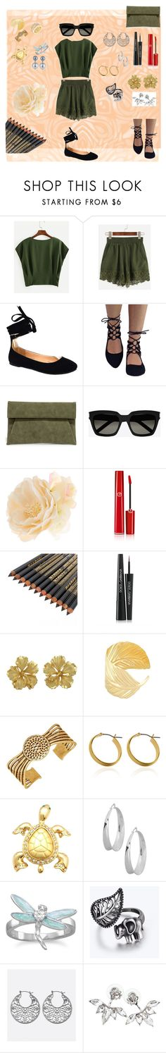 """Shopping day"" by dadacollins on Polyvore featuring LULUS, Yves Saint Laurent, Accessorize, Giorgio Armani, Dolce&Gabbana, Lucky Brand, BillyTheTree, Avenue and Kenneth Jay Lane"