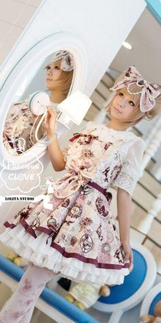 Precious Clove English Summer lolita JSK pink