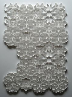On a wall. Breaking apart and decaying into the space. It makes me feel things. Origami And Kirigami, Origami Paper Art, Paper Crafts, Paper Structure, Paper Engineering, Islamic Art, Paper Design, Textures Patterns, Amazing Art