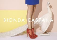 Shoe Daze – British shoe label Bionda Castana is pop art influenced for its spring 2012 campaign featuring a variety of shapes and…