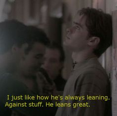 """Jordan Catalano (described by Angela Chase) of My So-Called Life. Totally remember """"the lean!"""""""