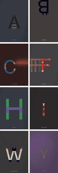 Helvetica Alphabet heroes