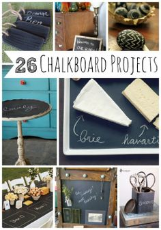 26 Charming Chalkboard Project Ideas - www.myblessedlife.net