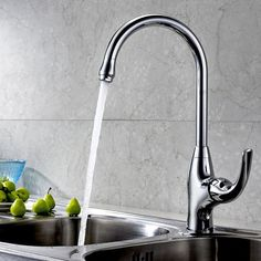 Lady Single Handle High Arc Kitchen Faucet, delivers a look that will never go out of style. Sold at US$85.99.