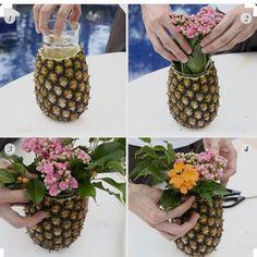 """""""Olha que ideia legal para fazer um arranjo de flores  Imagem do Ig…"""