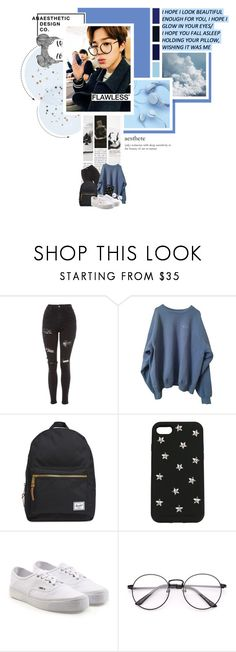 """• Y o u  a r e  m y  o b s s e s i o n,  t h e r e ' s  s o m e t h i n g  a b o u t  y o u r  l o v e  I  l o v e. •"" by mochiimin ❤ liked on Polyvore featuring Topshop, Herschel Supply Co., STELLA McCARTNEY and Vans"