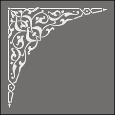 Click to see the actual OTT41 - Spandrel No 1 stencil design.