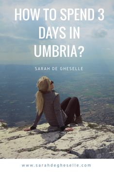 What can you do for 3 days in Umbria with backpack and without car?