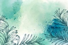 Download Watercolor Wallpaper With Hand Drawn Elements for free