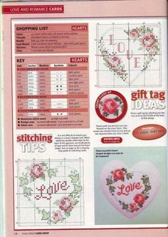 Hearts and Roses Cross Stitch Boards, Cross Stitch Heart, Cross Stitch Flowers, Cross Stitch Designs, Cross Stitch Patterns, Cross Stitching, Cross Stitch Embroidery, Wedding Cross, Rico Design