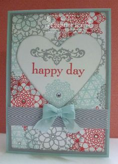 Stampin' Up! Delicate Doilies and Happy Day, for Just Add Ink #177