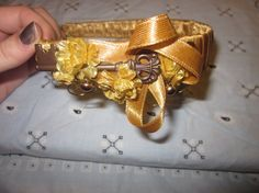 Gold AntiqueStyle Headband Featuring by SourAppleProductions, $15.99