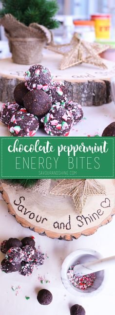 These no-bake chocolate peppermint energy bites are a quick and easy snack to keep you fuelled through all of those holiday activities! Bring them on the go, or serve them as a healthy holiday dessert! Click through to grab the recipe {plus a fun video!}