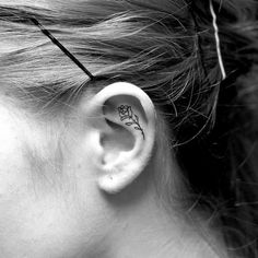 Minimalist Ear Tattoo Trend has People Getting Tiny Tattoos on Ear