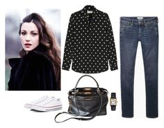 """Sans titre #443"" by lesdessouschics ❤ liked on Polyvore featuring Étoile Isabel Marant, Yves Saint Laurent, Fendi and Converse"