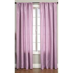 Softline Home Fashions Bella Kids Rod Pocket Single Curtain Panel Size: 5