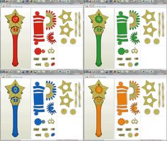 Printable Sailor Moon Star Wand Papercrafts by aiko-chan14 via DeviantArt      #crafts #printable #sailormoon