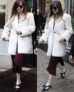 "246 Me gusta, 1 comentarios - Dakota Johnson Info (@dakotajohnsoninfo) en Instagram: ""NEW | Dakota leaving her hotel 'Le Bristol Paris' in Paris, France this morning, February 5th ➖➖➖…"""