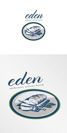 Eden Authentic Artisan Bread, very cool looking and simple brand name with an artisan logo design