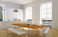 New York kitchen, virtual image, rendered with DomuS3D and mental ray