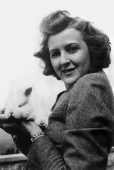 Eva Braun with a bunny
