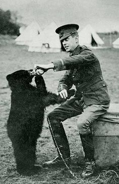 """10 Fun Facts About Winnie The Pooh Lt. Colebourne and Winnie – the bear who became the inspiration for A. Milne's """"Winnie the Pooh"""" (his son Christopher Robin named his teddy bear after seeing ."""