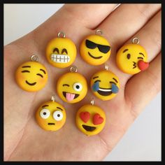 Emoji Charm Polymer Clay Kawaii Choose One by DaCraftyLilninja