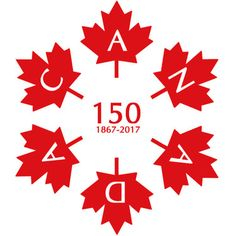 It consists of 6 official maple leafs (same ones as on the Canadian flag), spelling out C A N A D A. Interestingly, each maple leaf consists of 25 sides, or 150 sides total! Canada Day 150, Happy Canada Day, Visit Canada, O Canada, Canada Travel, Canadian Facts, I Am Canadian, Canada Day Crafts, Canada Day Party