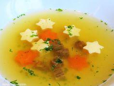 Rezepte mit Herz: Klare Suppe mit Eierstich - Sternen ♡