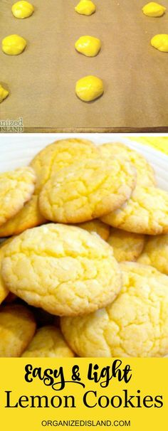 Recipe for easy lemon cookies that are light, fluffy, tasty and so simple to make!
