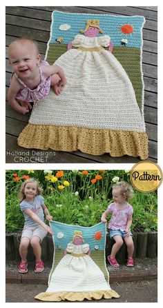 Adorable Princess Blanket Crochet Pattern