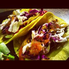 Fish Tacos with Cabbage Slaw.  www.laurelnutrition.com