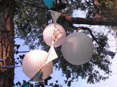 """Summer """"patio"""" decorations outside my camper."""