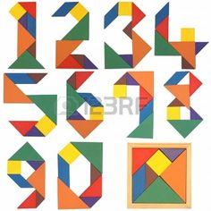 Números de serie, tangram.:
