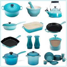 Le Creuset in Caribbean. Pin to win a beautiful, 20 piece set from Le Creuset! Click through to enter to win!