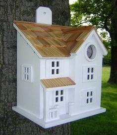 Victorian+cottage+birdhouses   fledgling series victorian cottage birdhouse hbz9001 a pine shingled ...
