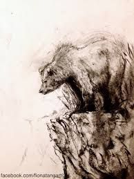 The Guardian by Fiona Tang. Art print, charcoal drawing, animal ...