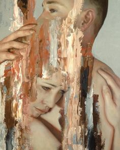 Meredith Marsone's Abstracted Portraits Explore Physical Connection New Zealand based artist Meredith Marsone's muted oil portraits reveal glimpses of her subjects in emotional and peaceful moments,. Art Inspo, Inspiration Art, Figure Painting, Painting & Drawing, Painting Abstract, Abstract Canvas, A Level Art, Abstract Portrait, Art Abstrait