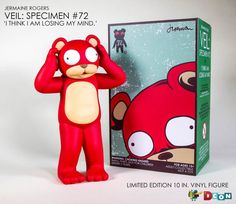 Jermaine Rogers x Designer Con Item - 'VEIL: Specimen #72 ('I Think I Am Losing My Mind.') Vinyl Figure Limited quantity of the regular edition will be available. (Booth 920) Designer-Con (November 19,20. 2016 in Pasadena, Ca.)