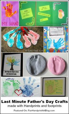 Last minute Father's Day handprint crafts